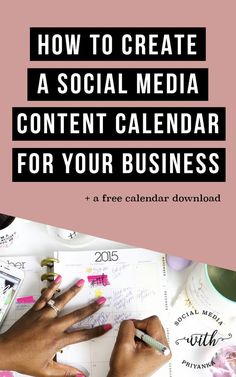 For businesses, it is a great idea to create a calendar to organize your social media outlets.