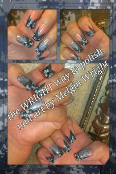 Navy Nail Art, Navy Nails, Painted Nail Art, Hand Painted, Military Nails, Class Ring, Boards, Nail Polish, Facebook