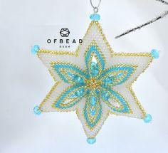 3D Star tutorial - Oriental Star, PDF by Ofbeaddesigns on Etsy https://www.etsy.com/listing/561658156/3d-star-tutorial-oriental-star-pdf