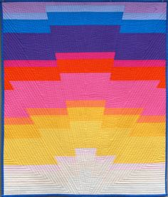 "Super-fun ""Sunrise Baby Quilt"" quilt along! Woo!"