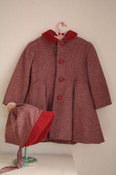 Vintage Handmade Little Girls Coat and Hat