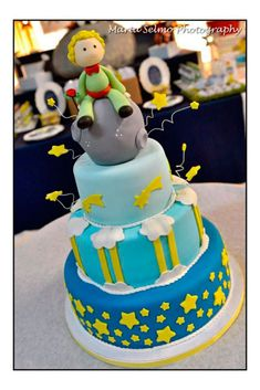 Kara's Party Ideas Little Prince Boy Fairytale Storybook Birthday Party Planning Idea Prince Birthday Party, First Birthday Parties, Birthday Party Decorations, The Little Prince Theme, Little Prince Party, Storybook Party, Gateau Baby Shower, Prince Cake, Astronaut Party