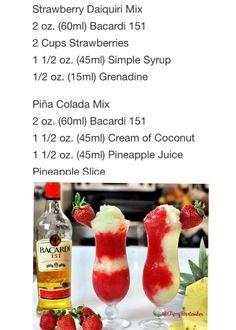 Strawberry Daiquiri Mix & Piña Colada Mix #Tipsybartender
