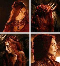 Melisandre: Season 2 braided bun #got #asoiaf