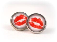 Lipstick Kiss Earrings Lips Earrings for Teens by foreverandrea, $12.00 Cute Valentine's Day gift for Teen Girl