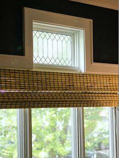 Faux Leaded Glass Windows