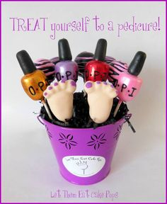 Pedicure Cake Pops
