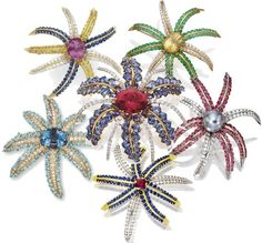 """Tiffany & Co.'s series of """"Fireworks"""" brooches"""