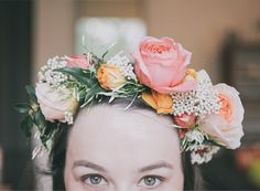 How amazing is the floral crown that Rue's art director Maia McDonald wore at her baby shower?