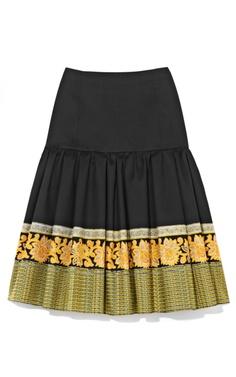 Suno Ruffle Hem Skirt