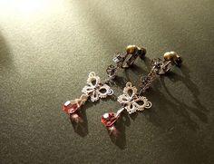 tatting-Twin Butterfly Earrings