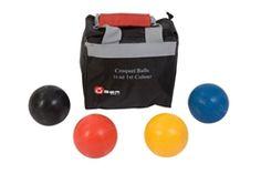 UBER Games Composite Croquet Ball Set Croquet Balls, Composite Croquet Balls,