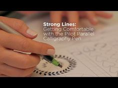 Getting Comfortable with the Pilot Parallel Pen Calligraphy R, Calligraphy Classes, Hand Lettering Tutorial, Calligraphy Tutorial, Chalkboard Writing, Brush Lettering, Creative Lettering, Best Pens, Pilot Pens