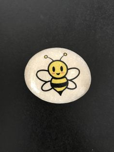 Items similar to Bee Rocks! - Bee Happy- Bee Yourself on Etsy A personal favorite from my Etsy shop Pebble Painting, Pebble Art, Stone Painting, Painted Rock Animals, Painted Rocks Craft, Rock Painting Ideas Easy, Rock Painting Designs, Bee Crafts, Rock Crafts