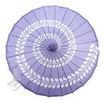 "BLOWOUT 32"" Purple Leaf Swirl Paper Parasol - 4.00"