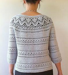 Ravelry: Irene - floral lace yoke cardigan by Vicky Chan