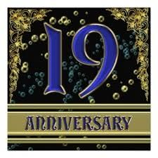 Hy 19th Wedding Anniversary Annigifts Anni Gifts