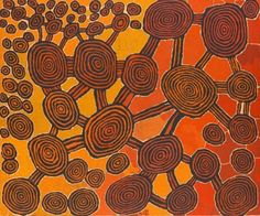 Johnny Yungut Tjupurrula Pintupi, Tingarri Dreaming at Wanaritjarra, 2009, synthetic polymer paint on canvas, 152.3 x 182.5cm. National Gallery of Victoria, Melbourne, Felton Bequest, 2011; featured in 'Living Waters' exhibition.