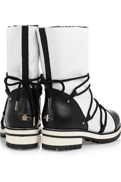 0c88d401fade Jimmy Choo - Shearling-lined leather and piqué-shell boots