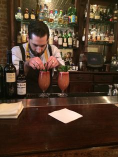 Will Peet from Donostia made the zombie inspired Mauser for the 2014 #SherryCocktailComp