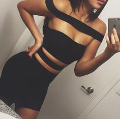 This just in!! Shop 'Black Cutout Bandage Dress' on fashionfrenzzie.com ❤ #fashionfrenzzie