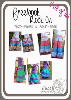 Sew a free skirt with steps / tiered skirt for children 74 - 152 (free sewing pattern) Sewing Patterns Free, Free Sewing, Free Pattern, Sewing For Kids, Baby Sewing, Sewing Hacks, Sewing Tutorials, Sewing Ideas, Fabric Basket Tutorial