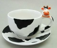 Animal Cups | dolomite interesting cup with saucer set size 15x1 5x9 5cm