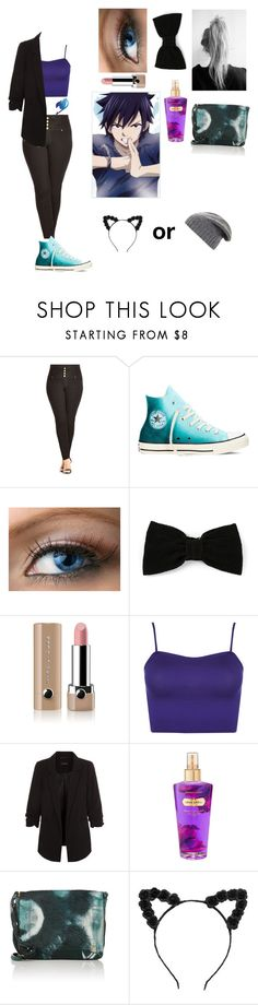 """""""Gray's little sister (16)"""" by erza-2001-scarlet ❤ liked on Polyvore featuring City Chic, Converse, Maison Michel, Marc Jacobs, WearAll, New Look, Victoria's Secret, Jérôme Dreyfuss and BCBGMAXAZRIA"""