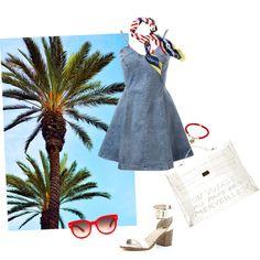 Summer mood by gabriela-kiteva on Polyvore featuring River Island, Hermès, Ralph Lauren and Equipment