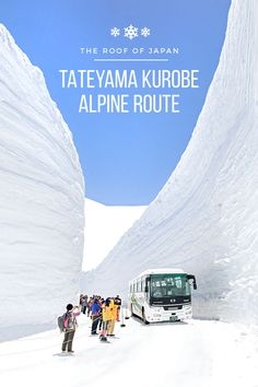Who knew Japan had a stunning mountain sightseeing route? The Tateyama Kurobe Alpine Route, also called the Roof of Japan, traverses Mt. Tateyama in the Northern Japan Alps. It's a must-see when you travel to Japan.