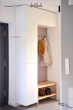 6 practical IKEA hacks for the hallway! 6 practical IKEA hacks for the hallway! Ikea Storage, Storage Hacks, Tall Cabinet Storage, Ikea Closet Hack, Closet Hacks, Ikea Hall, Particle Board Furniture, Ikea Trones, Small Dressing Rooms