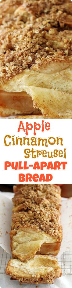 This Apple Cinnamon Streusel Pull-Apart Bread combines fresh apples, melted butter and a sweet cinnamon-sugar filling tucked between slices of soft bread. With a crumbly, sugary streusel to top it off, it's a deliciously comforting fall baking recipe you'll want to make again and again. Find recipe at redstaryeast.com. Apple Streusel, Streusel Topping, Ooey Gooey Recipe, Find Recipe, Pull Apart Bread, Fresh Apples, Monkey Bread, Fall Baking, Apple Cinnamon