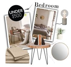 """""""Upgrade Your Bedroom With $500"""" by alinnas ❤ liked on Polyvore featuring interior, interiors, interior design, home, home decor, interior decorating, Heal's, Urban Outfitters, Allstate Floral and Dot & Bo"""
