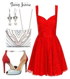 Untitled #1929 by skinny-jeannie on Polyvore featuring polyvore, fashion, style, Chi Chi, Calvin Klein, Elena Ghisellini, NOVICA, Mikimoto and clothing