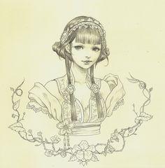 Original Bust Drawing by Jasmin Darnell via Etsy