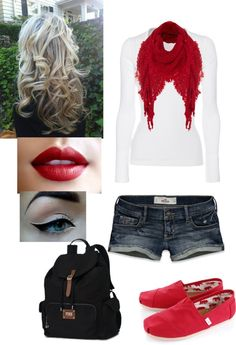 """""""school outfit 5"""" by brittmania ❤ liked on Polyvore i would wear this with a nice pair of capri pants myself :)"""
