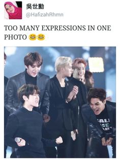 EXO AND GOT7 in the background