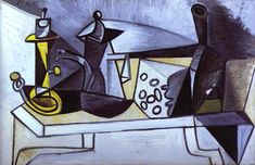 Pablo Picasso. Still-Life with Cheese. 1944 year