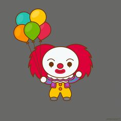 New trendy GIF/ Giphy. kawaii clown it pennywise. Let like/ repin/ follow @cutephonecases