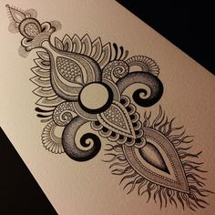 Closer#pen #ink #micron #copic #dotwork #stippling #mehndi #henna #drawing#copicart #hennadesign #mehandi#patterns #australia #anoushka_irukandji #irukandjidesigns