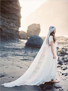 New Zealand Beach Bridal Session captured by Erich McVey #beachybride #bridalsessiontips #weddingchicks http://bit.ly/1j2Ab8Z