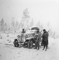 Captured armored car on the Raate road