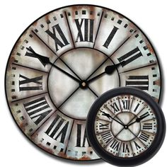 Grungy French Tower Clock - French Tower 3 Clock mix