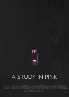 A Study in Pink - Movie Poster by Ashqtarav (Sherlock BBC) Sherlock Holmes, Sherlock Poster, Sherlock Cast, Sherlock John, Sherlock Quotes, Moriarty, Johnlock, Sherlock Season 1, A Study In Pink