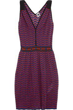 M Missoni Chevron-knit cotton-blend dress NET-A-PORTER.COM