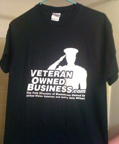 2nd Image of Veteran Owned Business Member T-Shirts.