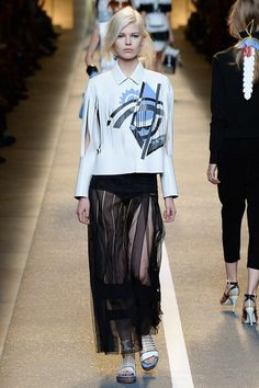 Fendi womenswear, spring/summer 2015, Milan Fashion Week