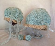 Matching mother daughter hats and bow tie  by AprilsYarnables