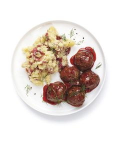 Glazed Meatballs: Glaze the meatballs with a sweet and tangy sauce made from currant jelly and allspice.