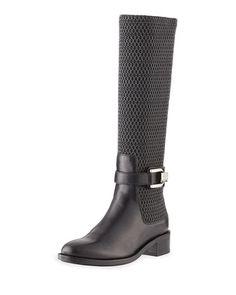 644b5e2ddb8c64 Aquatalia Odilia Weatherproof Leather Riding Boot. Black Riding BootsLeather  ...